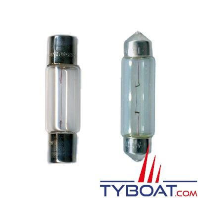 Aqua Signal - Pack 2 navettes 12 Volts 10 Watts - Concave + Convexe - 10x44mm