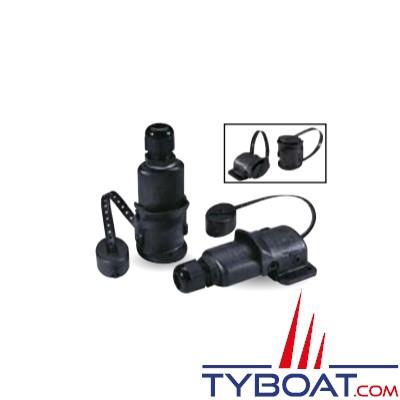 Aqua Signal - Prise horizontale femelle - 5 plots - Pour câble de 7 à 10 mm - Maxi  42 Volts - 16A