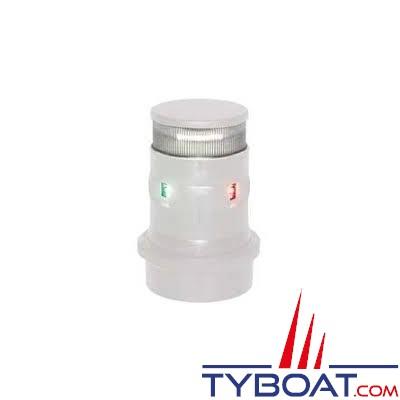 Aqua Signal - série 34 - Feu tricolore LED mât + mouillage - Blanc - 12/24 Volts