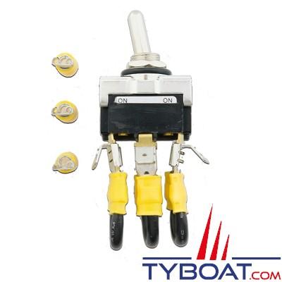 ATMB Marine - Interrupteur d'arrêt - 12 Volts - 50 Ampères pour éolienne D400