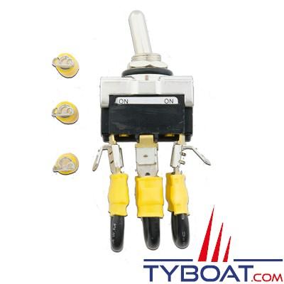 Interrupteur d'arrêt - 12 Volts - 50 Ampères pour éolienne D400 12V