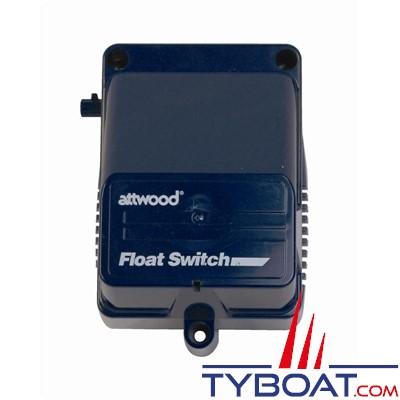 Attwood - Contacteur automatique à flotteur 4201 pour pompe de cale - 12/24 Volts - Avec couvercle