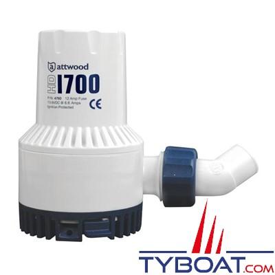 Attwood - Pompe de cale électrique HD1700 - 107 Litres/minute - 12 Volts