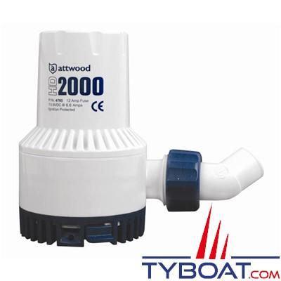 Attwood - Pompe de cale électrique HD2000 - 125 Litres/minute - 12 Volts