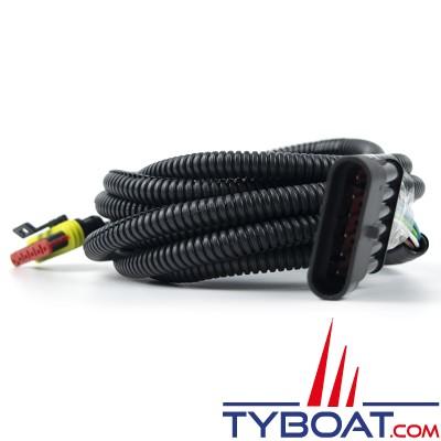 Autoterm - Câble d'extension pour pupitre contrôle PU-5 / PU-11 / PU-22 / PU-27 - Longueur 3 mètres