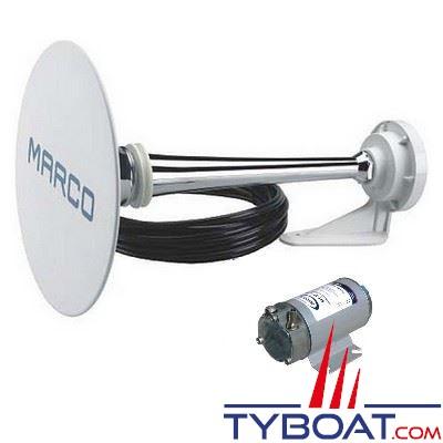 Avertisseur sonore homologué Marco PW2-C avec compresseur électrique 24V 10A 123dB pour bateaux de 12 à 20 mètres