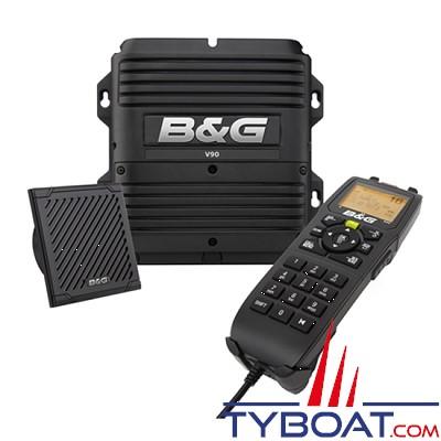 B&G - VHF marine fixe V90S avec récepteurs AIS et GPS intégrés et prise en charge de 6 combinés