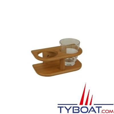 Bamboo Marine - Support 2 verres - Ø maxi 77 mm
