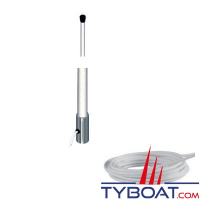 Banten - Antenne AM-FM AR270/76 fouet fibre de verre 2,70 m. + câble coaxial longueur 5 m. - pour vedettes