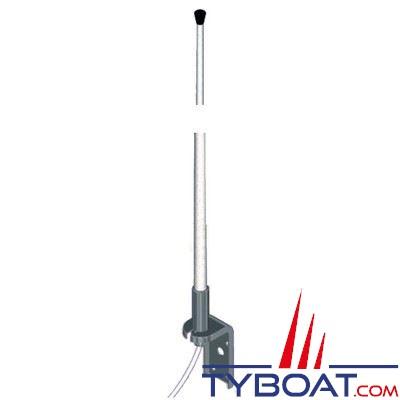 Banten - Antenne VHF VE18 fibre de verre 3 dB 1,4 m. équerre inox + 18 m. de câble gamme ECO pour voiliers