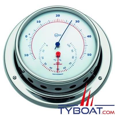 BARIGO - Conforimètre hygromètre et thermomètre série Regatta Ø100mm - version inox polie