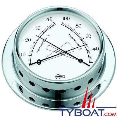 BARIGO - Conforimètre hygromètre et thermomètre série Tempo Ø85mm - version chromée