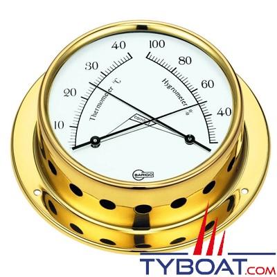 Barigo - Conforimètre hygromètre et thermomètre série Tempo Ø85mm - version laiton