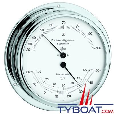 Barigo - Conforimètre hygromètre et thermomètre série Viking Ø130mm - version chromée