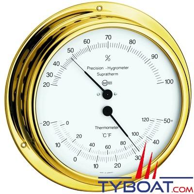 Barigo - Conforimètre hygromètre et thermomètre série Viking Ø130mm - version laiton