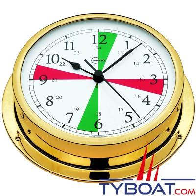 BARIGO - Horloge montre de bord avec zones de silence série Viking Ø130mm - version laiton