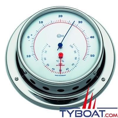 Barigo série Sky Ø85mm - Conforimètre hygromètre et thermomètre - version inox polie