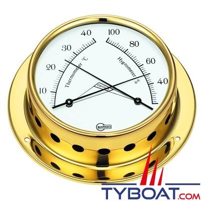 Barigo série Tempo Ø85mm - Conforimètre hygromètre et thermomètre - version laiton