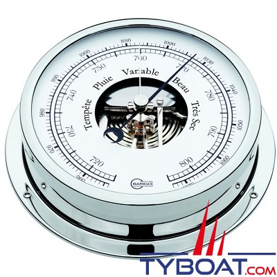 Barigo série Viking Ø130mm - Baromètre - version chromée
