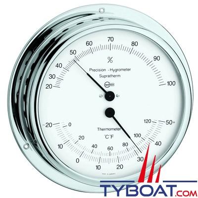 Barigo série Viking Ø130mm - Conforimètre hygromètre et thermomètre - version chromée