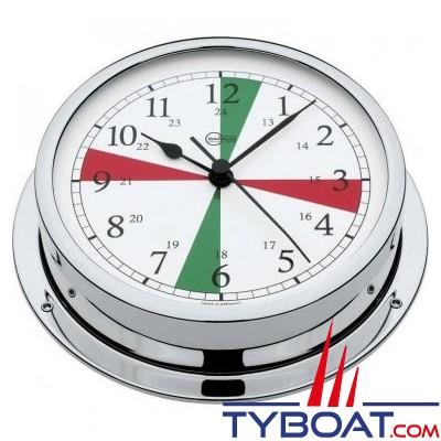 Barigo série Viking Ø130mm - Horloge montre de bord avec zones de silence - version chromée