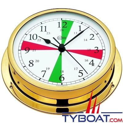 Barigo série Viking Ø130mm - Horloge montre de bord avec zones de silence - version laiton
