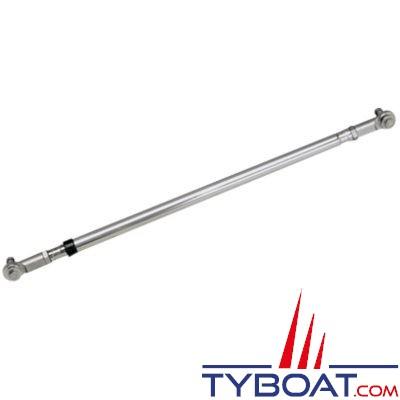 Barre de liaison Ultraflex universelle inox pour direction mécanique - 550 à 700 mm