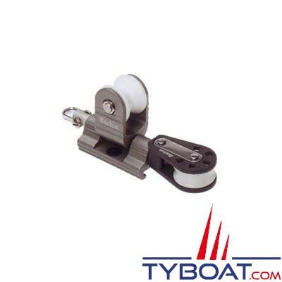 Barton Marine - Avale-tout tractable pour rail en T - largeur 20 mm + poulie