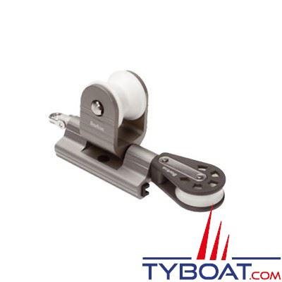 Barton Marine - Avale-tout tractable pour rail en T - largeur 32 mm + poulie