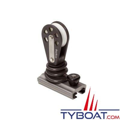 Barton Marine - Avale-tout vertical pour rail en T - largeur 25 mm + poulie orientable - Ø cordage 12 mm