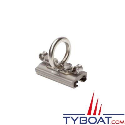 Barton Marine - Curseur de Spinnaker tractable pour rail en T - largeur 32 mm - Ø int. oeil 30 mm