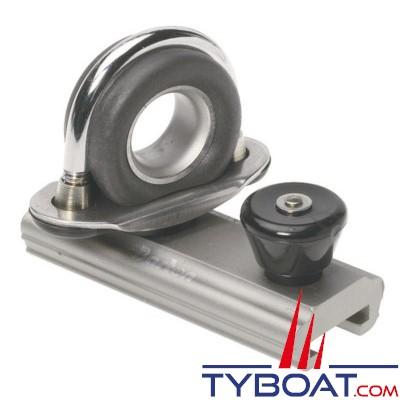 Barton Marine - Curseur orientable pour rail en T - largeur 20 mm - Ø cordage max 14 mm