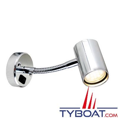BATSYSTEM - Applique Tube à led - 12 Volts 60 lumens - Modèle avec bras articulé et interrupteur. Aluminium.