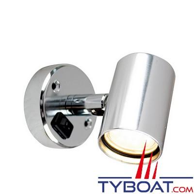 BATSYSTEM - Applique Tube D1 à led - 12 Volts 60 lumens - Modèle orientable avec interrupteur. Aluminium.