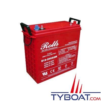 Batterie AGM Rolls 12 Volts 215 Ampères