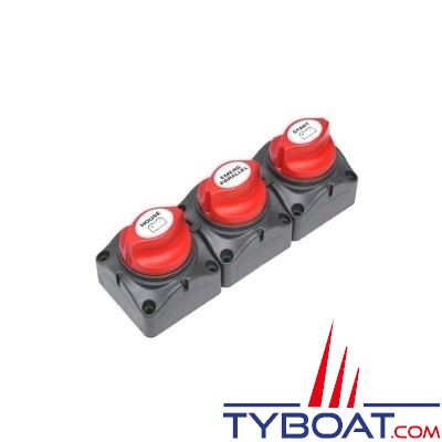 BEP Marine - Set de 3 coupes-batteries - 275 Ampères continu