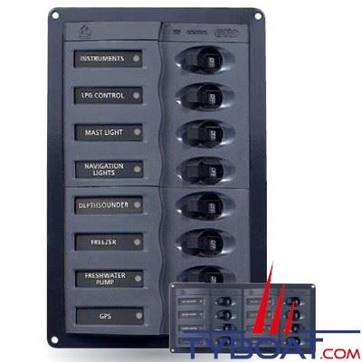 BEP Marine - Tableau électrique 8 disjoncteurs unipolaires horizontal