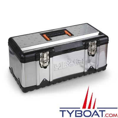 Beta - Boite à outils en acier inoxydable et plastique avec plateau amovible - 500x200x20 mm