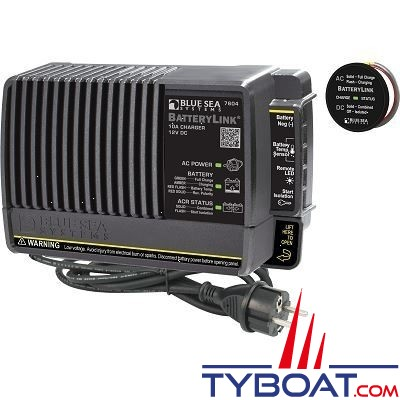 Blue Sea Systems - Chargeur de batterylink - 12 Volts d.c 10 Ampères-euro - 7604