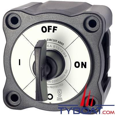 Blue Sea Systems - Commutateur batterie série m on/off a clé noire - BS6005200