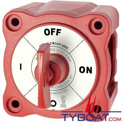 Blue Sea Systems - Commutateur batterie série m on/off a clé rouge