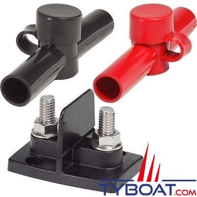 Blue Sea Systems - connecteur double avec 2 isolants - 44x48x70mm