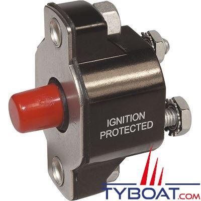 Blue Sea Systems - Disjoncteur avec bouton poussoir md 30 Ampères