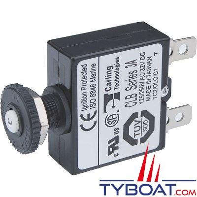 Blue Sea Systems - Disjoncteur avec bouton poussoir qc  3 Ampères - BS7050