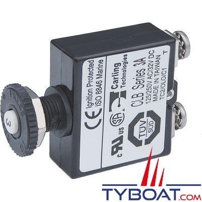 Blue Sea Systems - Disjoncteur avec bouton poussoir st  3 Ampères  - BS2129