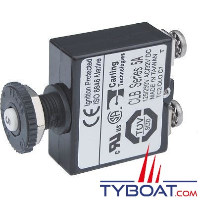 Blue Sea Systems - Disjoncteur avec bouton poussoir st  5 Ampères - BS2130