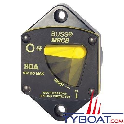 Blue Sea Systems - Disjoncteur thermique 7042 série 187 encastrable  80A