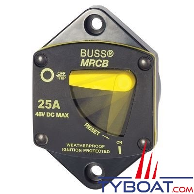 Blue Sea Systems - Disjoncteur thermique série 187 - 25 Ampères