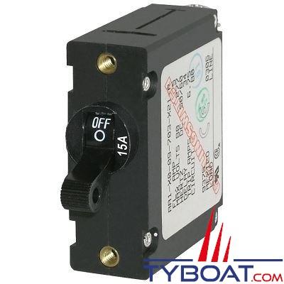 Blue Sea Systems - Disjoncteur thermique série a unipolaire 15 Ampères noir - BS7208