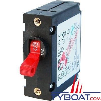 Blue Sea Systems - Disjoncteur thermique série a unipolaire 15 Ampères rouge - BS7209